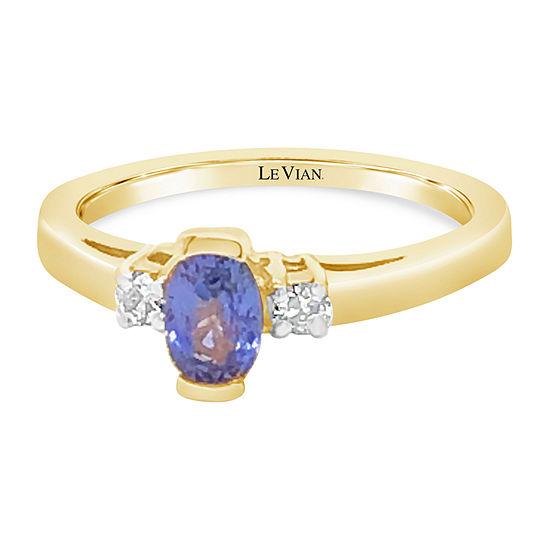 Le Vian Grand Sample Sale™ Ring featuring Cornflower Ceylon Sapphire™ Nude Diamonds™ set in 14K Honey Gold™