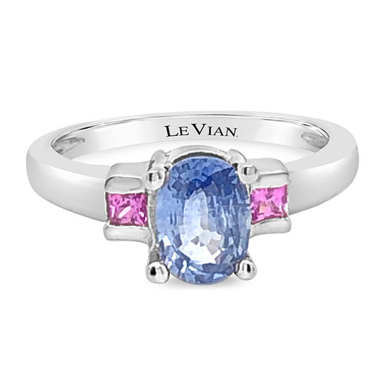 Le Vian Grand Sample Sale™ Ring featuring Cornflower Ceylon Sapphire™ Bubble Gum Pink Sapphire™ set in 14K Vanilla Gold®