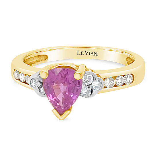 Le Vian Grand Sample Sale™ Ring featuring Bubble Gum Pink Sapphire™ Nude Diamonds™ set in 14K Honey Gold™