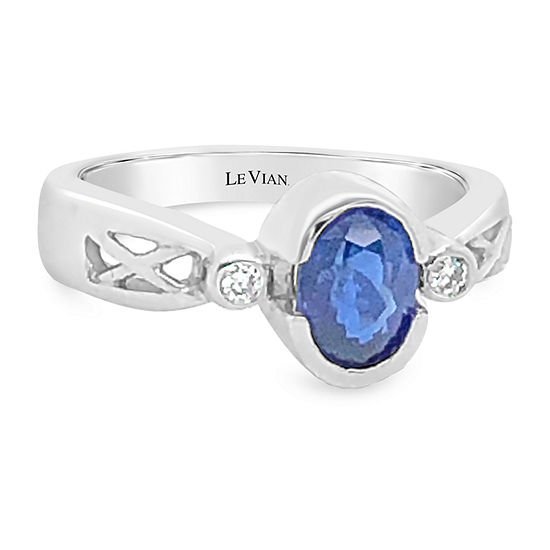 Le Vian Grand Sample Sale™ Ring featuring Cornflower Ceylon Sapphire™ Vanilla Diamonds® set in 14K Vanilla Gold®