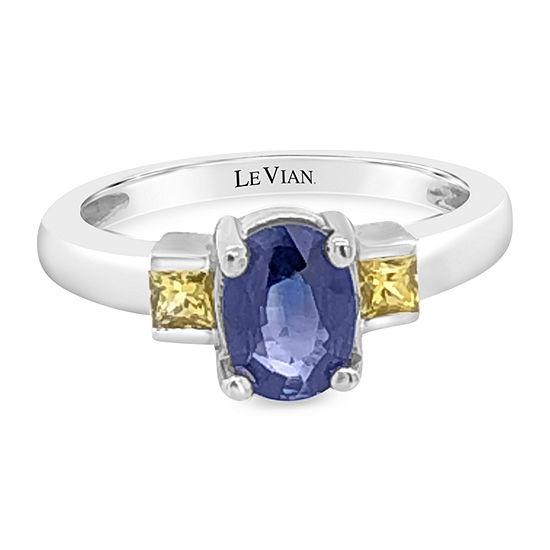 Le Vian Grand Sample Sale™ Ring featuring Cornflower Ceylon Sapphire™ Yellow Sapphire set in 14K Vanilla Gold®