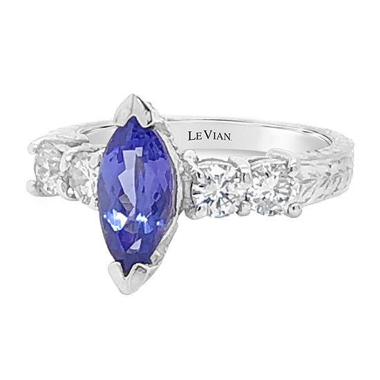 Le Vian Grand Sample Sale™ Ring featuring Blueberry Tanzanite® Vanilla Diamonds® set in 14K Vanilla Gold®