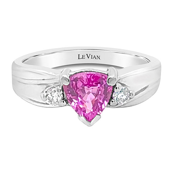 Le Vian Grand Sample Sale™ Ring featuring Bubble Gum Pink Sapphire™ Vanilla Diamonds® set in 14K Vanilla Gold®