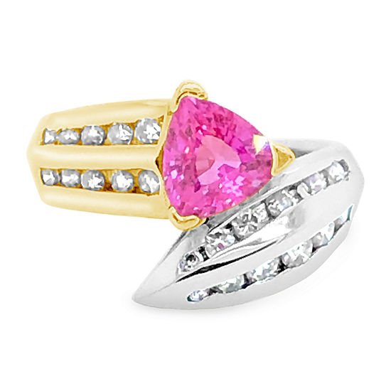 Le Vian Grand Sample Sale™ Ring featuring Bubble Gum Pink Sapphire™ Vanilla Diamonds® set in 18K Two Tone Gold