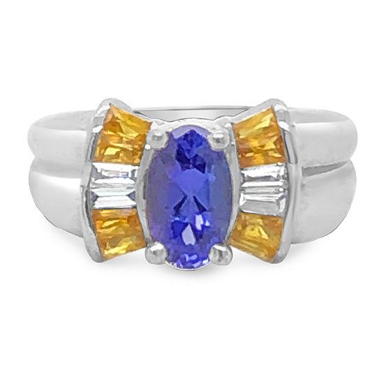 Le Vian Grand Sample Sale™ Ring featuring Blueberry Tanzanite® Yellow Sapphire Vanilla Diamonds® set in 18K Vanilla Gold®