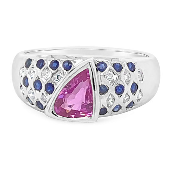 Le Vian Grand Sample Sale™ Ring featuring Bubble Gum Pink Sapphire™ Blueberry Sapphire™ Vanilla Diamonds® set in 18K Vanilla Gold®