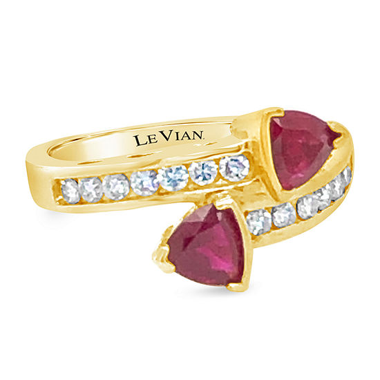Le Vian Grand Sample Sale™ Ring featuring Passion Ruby™ Vanilla Diamonds® set in 14K Honey Gold™