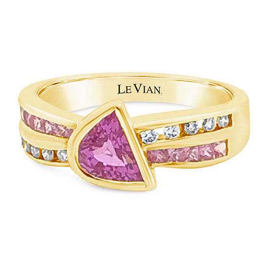 Le Vian Grand Sample Sale™ Ring featuring Bubble Gum Pink Sapphire™  Vanilla Diamonds® set in 18K Honey Gold™