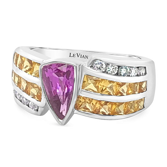 Le Vian Grand Sample Sale™ Ring featuring Bubble Gum Pink Sapphire™ Yellow Sapphire Vanilla Diamonds® set in 18K Vanilla Gold®