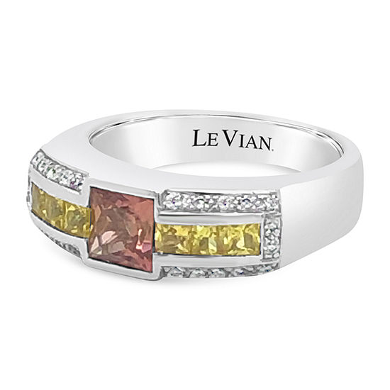 LIMITED QUANTITIES! Le Vian Grand Sample Sale™ Ring featuring Passion Fruit Tourmaline™ Yellow Sapphire Vanilla Diamonds® set in 14K Vanilla Gold®