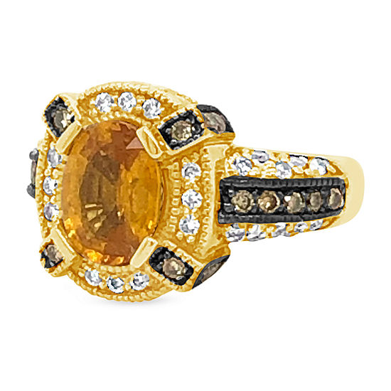 Le Vian Grand Sample Sale™ Ring featuring Yellow Sapphire Chocolate Diamonds® Vanilla Diamonds® set in 14K Honey Gold™