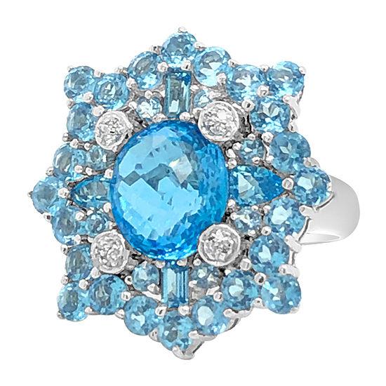 Le Vian Grand Sample Sale™ Ring featuring Blue Topaz Vanilla Diamonds® set in 18K Vanilla Gold®