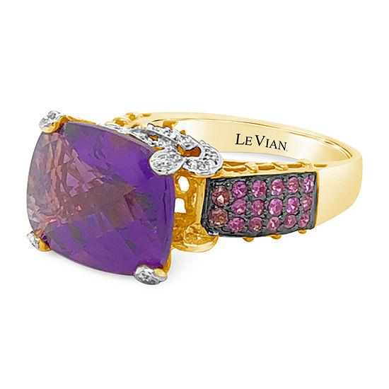 Le Vian Grand Sample Sale™ Ring featuring Grape Amethyst™ Bubble Gum Pink Sapphire™ Vanilla Diamonds® set in 14K Strawberry Gold®