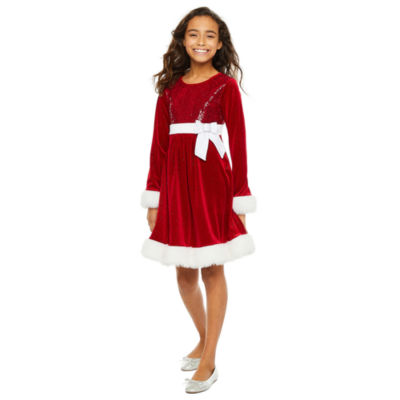 Bonnie Jean Girls Long Sleeve A-Line Dress