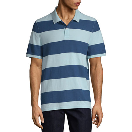 Mens Vintage Shirts – Retro Shirts St. Johns Bay Mens Short Sleeve Polo Shirt Large  Blue $14.39 AT vintagedancer.com
