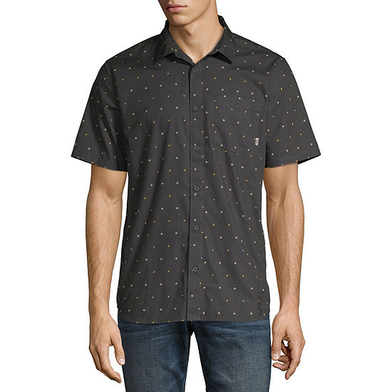 Vans Mens Short Sleeve Button-Down Shirt