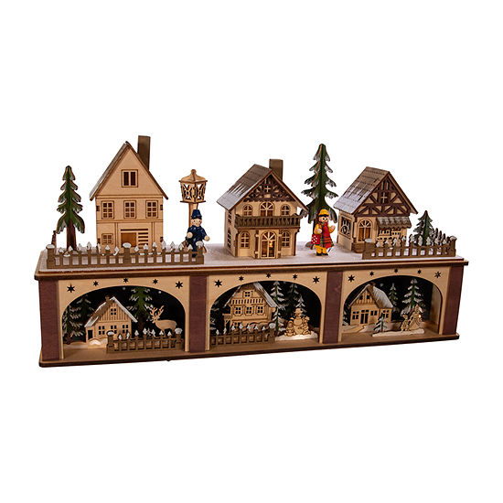 Kurt Adler 8.66-Inch Battery-Operated Village Led House Figurine