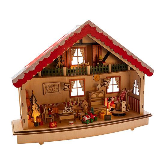 Kurt Adler 13.38-Inch Battery-Operated Musical Village Led House Figurine