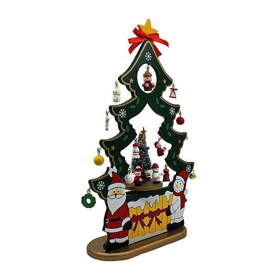 Kurt Adler 11.5-Inch Musical Santa And Snowman Nativity Christmas Figurine