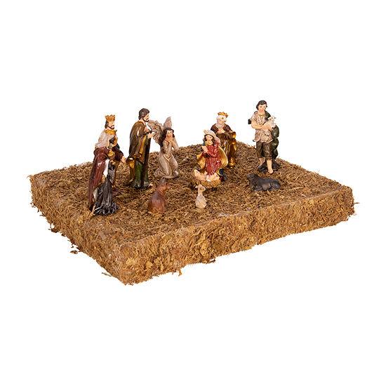 Kurt Adler 3.25-Inch 11-Pc. Resin Nativity Figurine Figurine