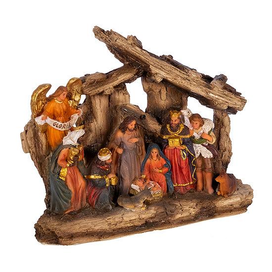 Kurt Adler 7-Inch 11-Pc. Resin Nativity Figurine