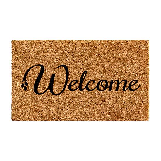 Welcome Rectangular Outdoor Doormat