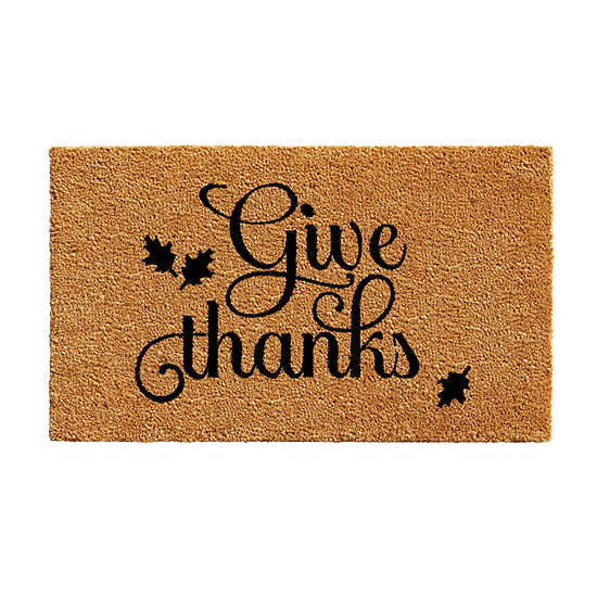 Give Thanks Rectangular Outdoor Doormat