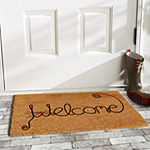 Kitty Curlicue Rectangular Outdoor Doormat