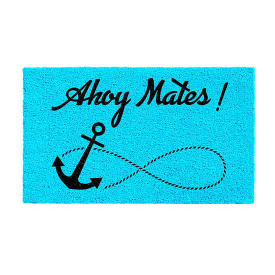 Ahoy Mates Rectangular Outdoor Doormat