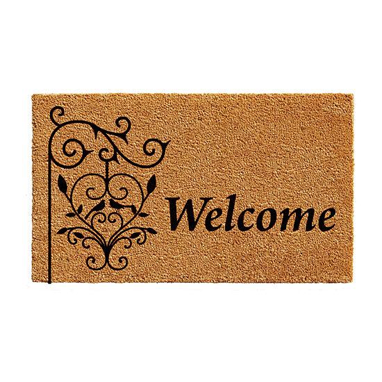Welcome Post Rectangular Outdoor Doormat