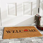 Little House Welcome Rectangular Outdoor Doormat