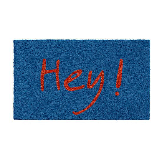 Hey Grey/Green Rectangular Outdoor Doormat