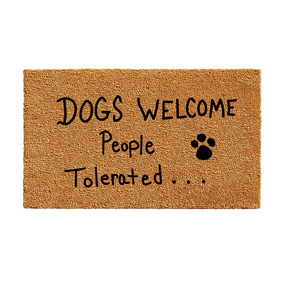 People Tolerated Rectangular Outdoor Doormat