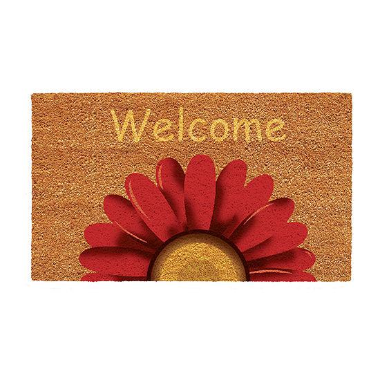 Sunflower Welcome Rectangular Outdoor Doormat