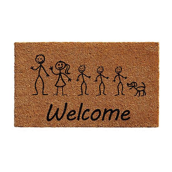 Calloway Mills Stick Family Rectangular Outdoor Doormat