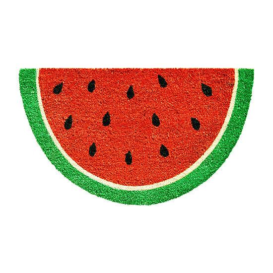 Watermelon Slice Rectangular Outdoor Doormat