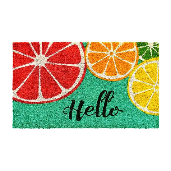 Fruit Hello Rectangular Outdoor Doormat