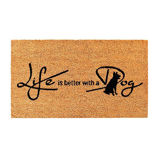 Life Is Better With A Dog Rectangular Outdoor Doormat