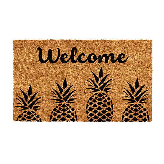Pineapple Express Rectangular Outdoor Doormat