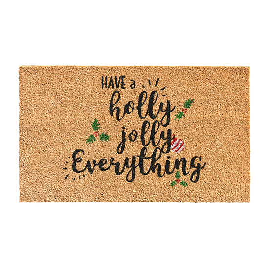 Holly Jolly Rectangular Outdoor Doormat