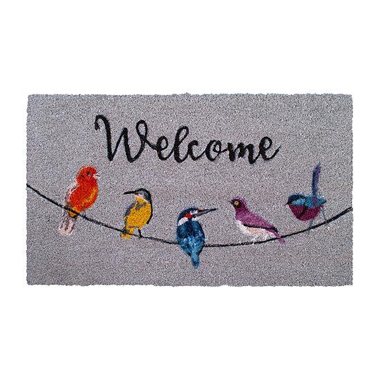 Tweet Chat Rectangular Outdoor Doormat