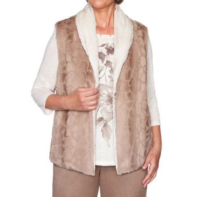 Alfred Dunner First Frost Womens Vest