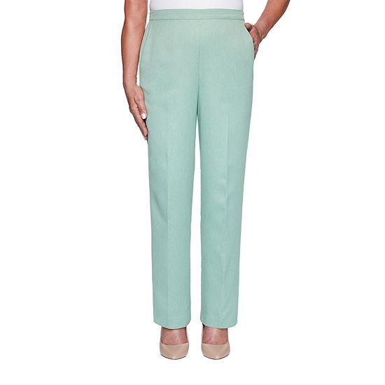 Alfred Dunner Lake Geneva Womens Straight Pull-On Pants