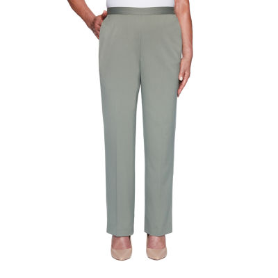 Alfred Dunner-Misses Short Loire Valley Womens Straight Pull-On Pants