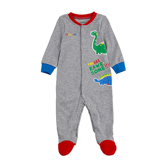 Crayola Baby Boys Knit Long Sleeve One Piece Pajama