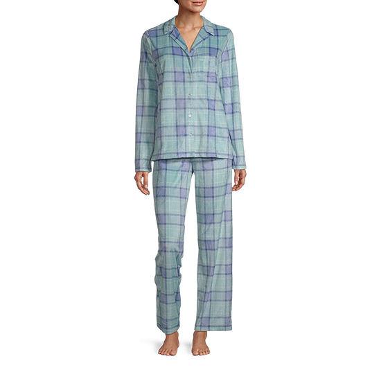 Adonna Womens-Tall Pant Pajama Set 2-pc. Long Sleeve