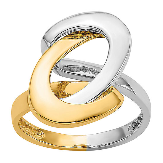 3MM 14K Two Tone Gold Band