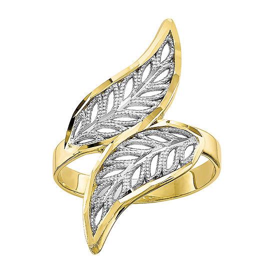 10K Two Tone Gold Filigree Fashion Ring