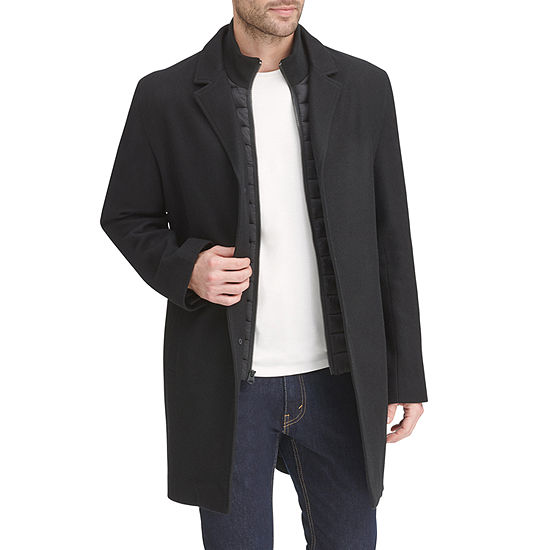 Dockers Wool Blend Top Coat with Quilted Bib