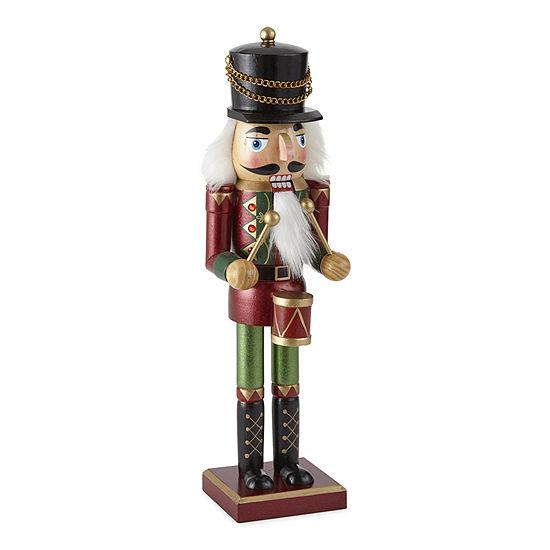 "North Pole Trading Co. 14"" Drummer Christmas Nutcracker"